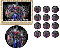 transformers cake decorations edible cake topper transformer etsy