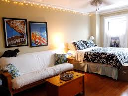 apartment earthy small studio apartment with christmas lights apartment earthy small studio apartment with christmas lights decor also floral bedding decorating small studio