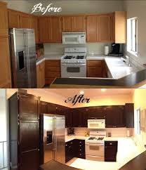 can you paint stained cabinets how to stain kitchen cabinets without sanding chic design 19 paint