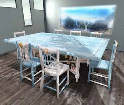 coastal dining room table second life marketplace aphrodite seaside coastal dining room