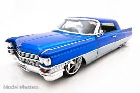 collectible model cars 1963 blue silver cadillac diecast model car diecast model cars