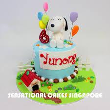 snoopy cakes the sensational cakes snoopy theme birthday cake singapore