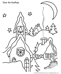 christmas eve coloring pages santa flies sleigh christmas