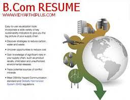 resume sles for fresh graduates bcom resume bcom