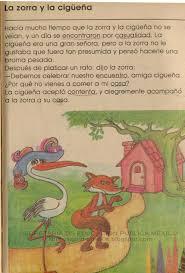 mis libros historias de la historia libros de primaria de los 80 s la zorra y la cigüeña mi libro de