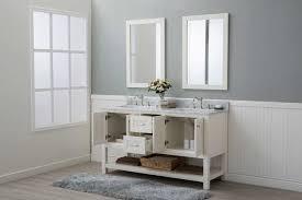 Bathroom Vanities 2 Sinks White Shaker 60