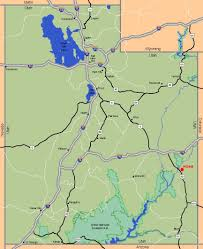 Utah State Parks Map by Map Of Utah Usa