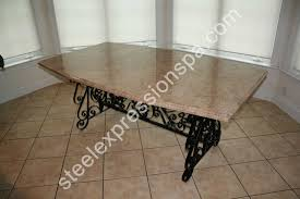 wrought iron dining room table attractive wrought iron dining room tables collection and table