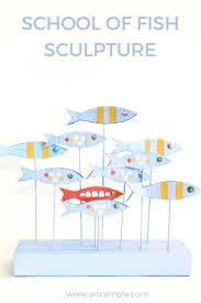 of fish sculpture 3 d sculpture cardboard crafts