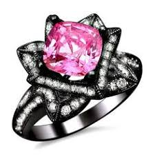 black and pink wedding rings pink black gold unique wedding ring jewelry i want