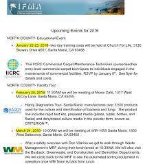 2016 events calendar ifma california central coast