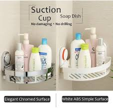 Bathroom Shower Shampoo Holder Caddy Rack Bathroom Suction Cup Shower Holder Shampoo Holder