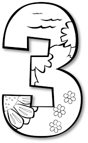 creation day 3 number ge 1 black white line art coloring book