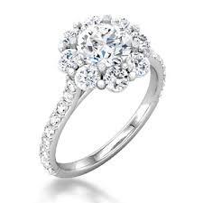 flower halo engagement ring flower halo engagement ring