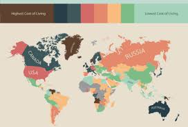 which state has the lowest cost of living infographic the cost of living around the world