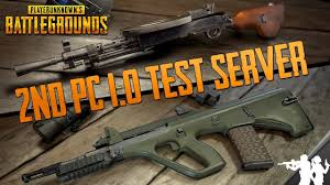 pubg new weapons second pubg pc 1 0 test server is now live new guns dp 28 aug