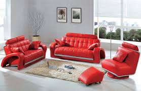 Red Living Room by Casual Leather Sofa Set For Living Room Designs Ideas U0026 Decors