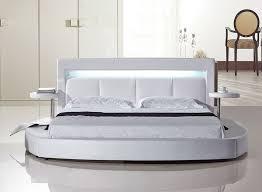 Platform Bed With Lights White Round Platform Bed