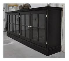 black cabinet with glass doors media cabinet with glass doors in aged black by for the home