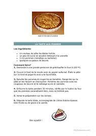 fiche cuisine recette de cuisine fiche d exercices fiches pédagogiques gratuites fle