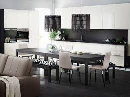 cuisine blanc noir noir et blanc habillent la cuisine house