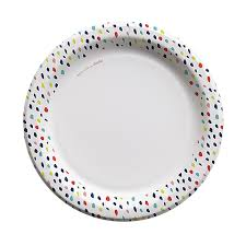 paper plates cheeky 10 paper plates multicolor confetti edge