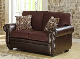 Chenille Sofa And Loveseat Homelegance Beckstead Sofa Set Chocolate Chenille And Dark Brown