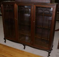 Mahogany Bookcase With Glass Doors Antique Bookcase With Glass Doors Flc Collections