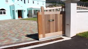 inspirations automatic sliding gates design gallery and wooden