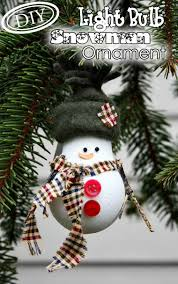 diy light bulb snowman ornament u2013 top easy christmas party decor