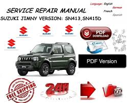 suzuki jimny workshop service manual pdf ebay