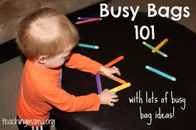 busy bags 101 and lots of busy bag ideas