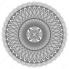 mandala coloring book boho style hippie jewelery round ornament