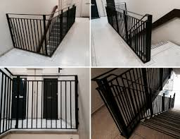 rsg4400 staircase handrails fitted to a communal staircase for