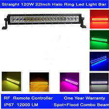 multi color led light bar straight offroad 120w 22 inch led light bar with multi color shift