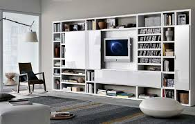 lcd tv rack design modern crossing hanging bookcases design with