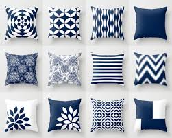 Sofa Cushion Cover Designs Navy And White Pillow Cover Throw Pillow Cover By Hlbhomedesigns