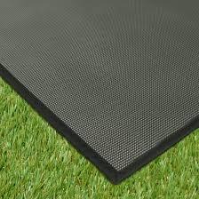 tapis extérieur pvc tressé noir 120 x 180 cm decoweb
