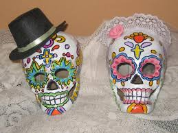 sugar skull cake topper day of the dead sugar skull paper mache cake topper and