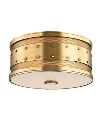 Flush Mount Lighting Fixtures Hudson Valley 2202 Gaines 12 Inch Wide Flush Mount Capitol