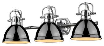 matte black vanity light brilliant golden lighting duncan 3 light vanity chrome with black