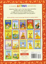 arthur arthur u0027s valentine arthur adventures paperback marc brown