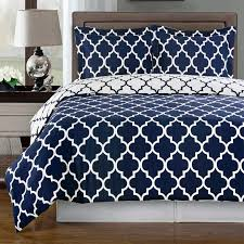 meridian navy reversible cotton comforter set photo 1
