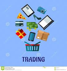 design poster buy tradingflat poster design for online shopping stock vector