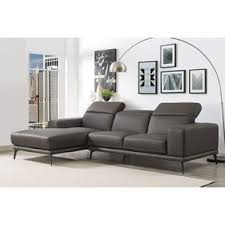 leather sectional grey wayfair