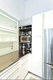 Small Kitchen Appliances Garage With Tiled Backsplash by Kitchen Gets A Fresh Slant For An Open Cook Space Appliance