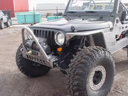 jeep rubicon winch bumper tj yj front winch bumper bare guardian 97 06 wrangler tj 87 95