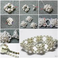 pearls bracelet diy images Diy elegant pearl cluster necklace jpg