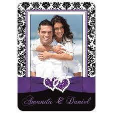 purple wedding invitations photo template wedding invitation black and white damask