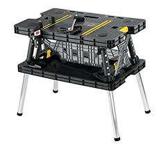 amazon com keter folding compact workbench sawhorse work table